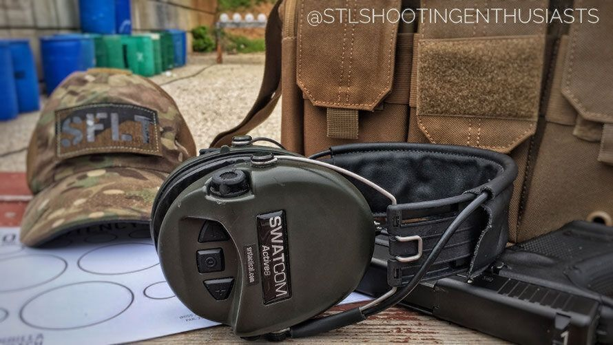 Picture of Swatcom Active8 for review by STL Shooting Enthusiasts